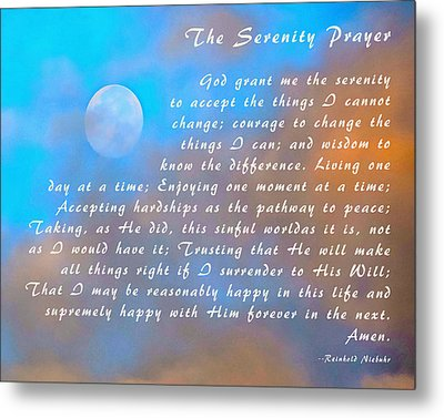 Metal Print featuring the photograph Full Moon Serenity Prayer Digital by Floyd Snyder