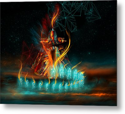 Fully Charged Metal Print by Carmen Hathaway