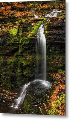 Fulmer Falls George W.childs Park Metal Print by Susan Candelario