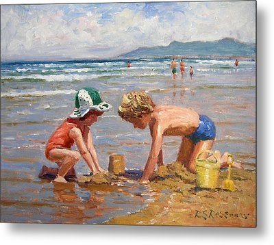 Fun At The Beach Metal Print by Roelof Rossouw
