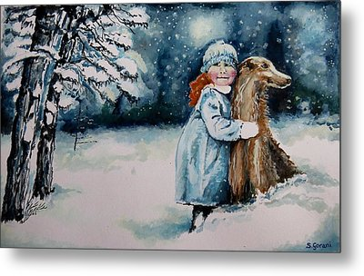 Fun In The Snow Metal Print