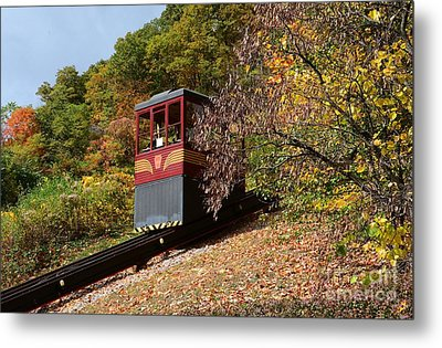 Funicular Descending Metal Print
