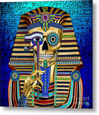 Funky Bone Pharaoh Metal Print by Christopher Beikmann