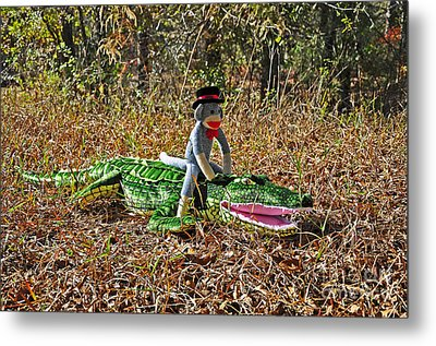 Funky Monkey - Reptile Rider Metal Print by Al Powell Photography USA