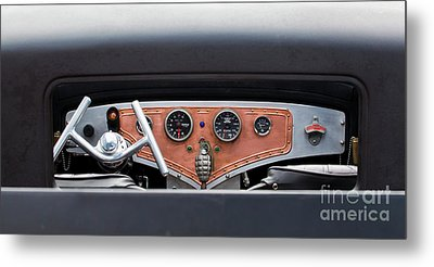 Metal Print featuring the photograph Funny Car Dash by Chris Dutton