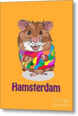 Funny Design Illustration Puns Hamsterdam The Wire Metal Print
