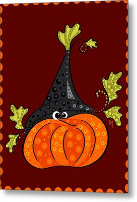 Metal Print featuring the painting Funny Halloween by Veronica Minozzi