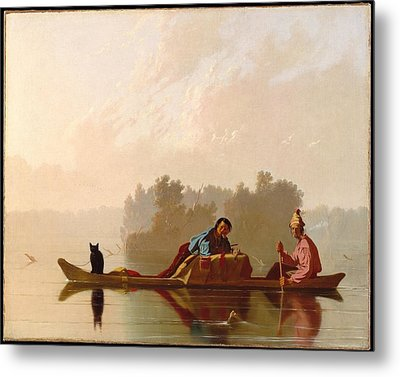 Fur Traders Descending The Missouri Metal Print by MotionAge Designs
