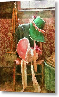 Furniture - Chair - Bonnets  Metal Print by Mike Savad