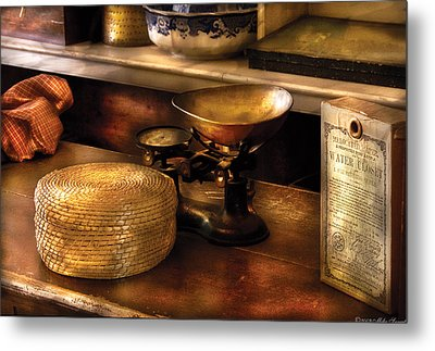 Furniture - Table - Curious Items For Sale  Metal Print by Mike Savad