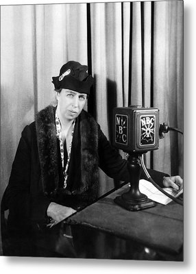 Future First Lady Eleanor Roosevelt Metal Print by Everett