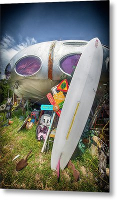 Metal Print featuring the photograph Futuro House 2 by Alan Raasch