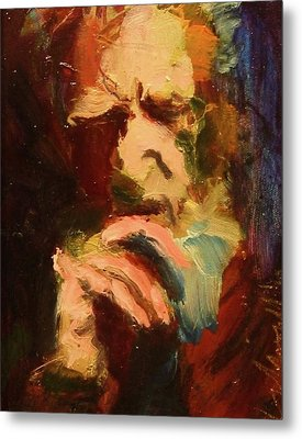 Metal Print featuring the painting G B S by Les Leffingwell