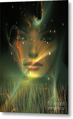 Metal Print featuring the digital art Gaia by Shadowlea Is