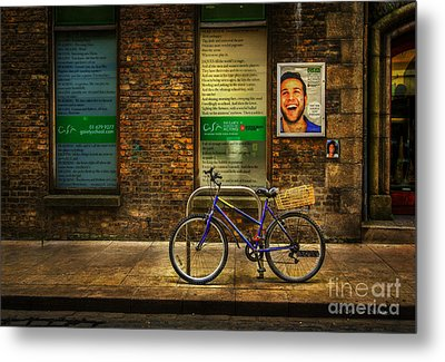 Metal Print featuring the photograph Gaiety Bicycle by Craig J Satterlee
