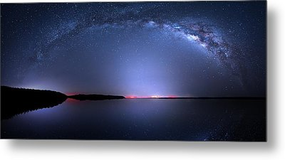 Metal Print featuring the photograph Galactic Lake by Mark Andrew Thomas