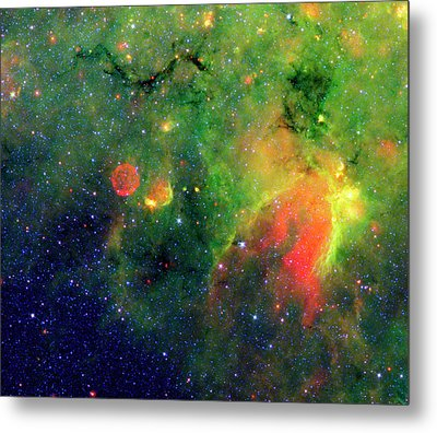 Galactic Snake In Infrared Milky Way Metal Print by Mark Kiver