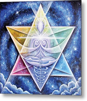 Metal Print featuring the painting Galactic Starseed Goddess by Tiffany Davis-Rustam