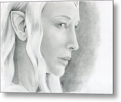 Galadriel The Fair Lady Of The Forest Metal Print by Bitten Kari