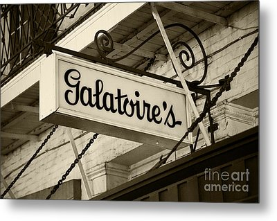 Galatoire's Friday Brunch Metal Print by Leslie Leda