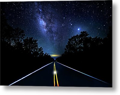 Metal Print featuring the photograph Galaxy Highway by Mark Andrew Thomas