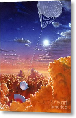 Galileo Space Probe Metal Print by Lionel Bret and Photo Researchers