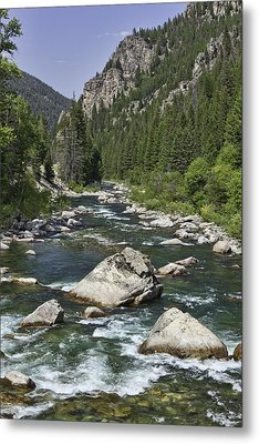Gallatin River House Rock Metal Print