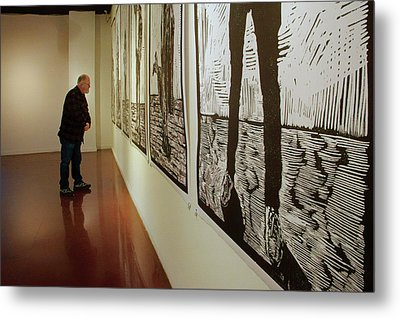 Metal Print featuring the photograph Gallery Lines by Nikolyn McDonald