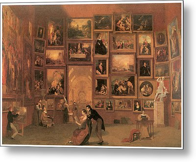 Gallery Of The Louvre Metal Print by Samuel Morse