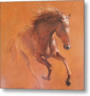 Gallop In The Desert Metal Print by Vali Irina Ciobanu