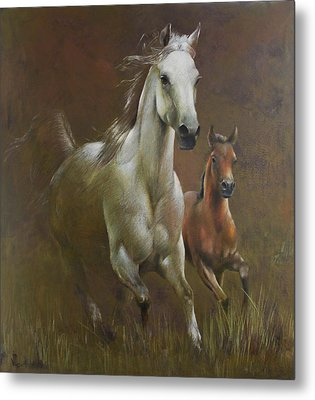Gallop In The Eyelash Of The Morning Metal Print by Vali Irina Ciobanu