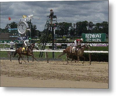 Metal Print featuring the digital art Galloping Out Painting by  Newwwman