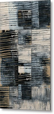 Galvanized Paint Number 1 Vertical Metal Print by Carol Leigh