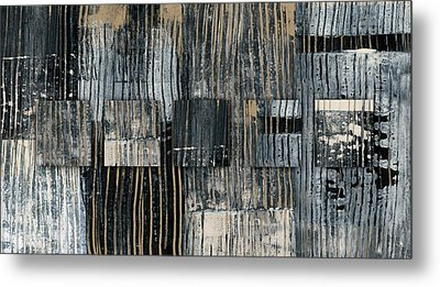 Galvanized Paint Number 2 Horizontal Metal Print by Carol Leigh