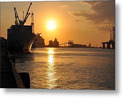 Galveston Harbor Metal Print