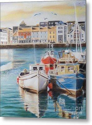 Galway Harbour Metal Print by Vanda Luddy
