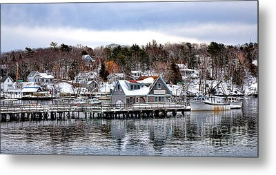 Gamage Shipyard In Winter Metal Print by Olivier Le Queinec