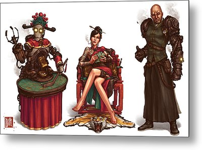 Gambling Den Concept Metal Print by James Ng