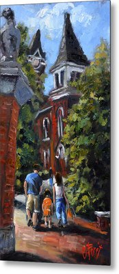 Game Day At Auburn Metal Print by Carole Foret