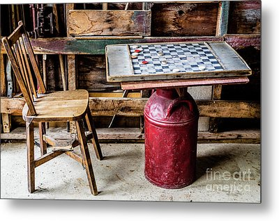 Game Of Checkers Metal Print by M G Whittingham