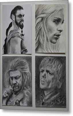 Game Of Thrones Group Metal Print by Lynn Hughes
