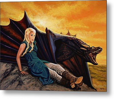 Game Of Thrones Painting Metal Print