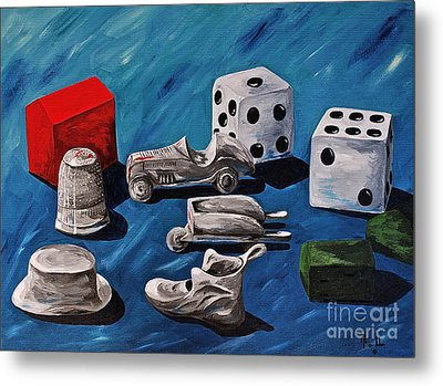 Game Pieces Metal Print by Herschel Fall