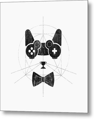 Gameow Metal Print