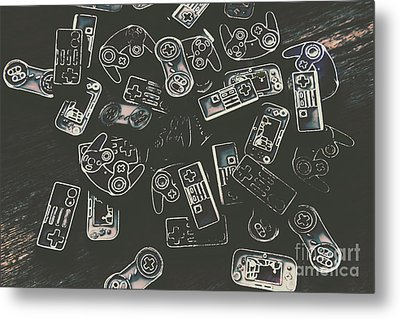Gamers Of Arcade  Metal Print by Jorgo Photography - Wall Art Gallery