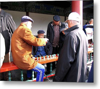 Metal Print featuring the photograph Games In China by Marti Green