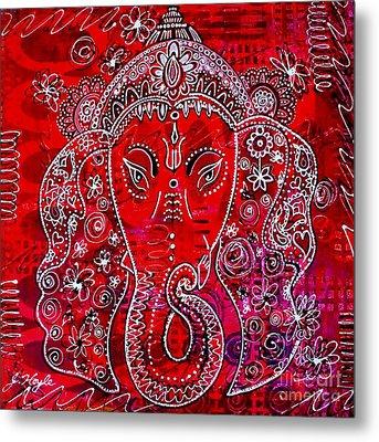 Ganesha Metal Print by Julie Hoyle