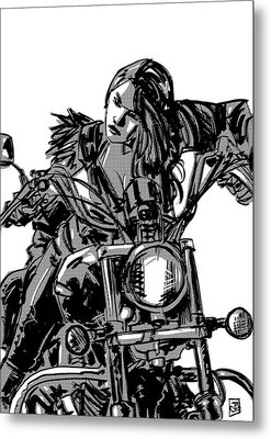 Gang Girl Metal Print by Giuseppe Cristiano