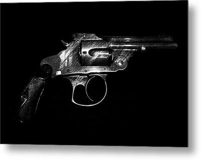 Metal Print featuring the mixed media Gangster Gun by Daniel Hagerman