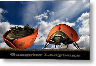 Gangster Ladybugs Nature Gone Mad Metal Print by Bob Orsillo